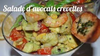 Recette Salade d'avocats aux crevettes