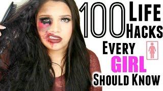 getlinkyoutube.com-100 Beauty Life Hacks Every Girl Should Know! Ultimate Life Hacks!