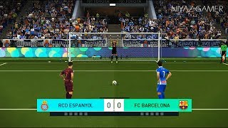 ESPANYOL vs FC BARCELONA | Penalty Shootout | PES 2018 Gameplay PC