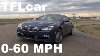 getlinkyoutube.com-2015 BMW Alpina B6 Gran Coupe 0-60 MPH Racetrack Review: Does AWD=Lap Record?