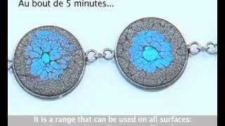 getlinkyoutube.com-Делаем красивый браслет, используя краски Fantasy Prisme от Pebeo