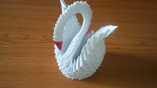getlinkyoutube.com-How to make 3D origami swan, part 1