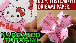 getlinkyoutube.com-Customized Origami Challenge! How to Fold a Flower
