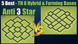 getlinkyoutube.com-Clash of Clans - Top 5 Best Town hall 8 Defense Th8 Farming Base & Hybrid Base Anti 3 Star