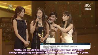 getlinkyoutube.com-[ENG SUB] 140116 SNSD @ 28th Golden Disk Awards - Bonsang Award