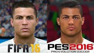 getlinkyoutube.com-FIFA 16 vs PES 2016 - REAL MADRID FACE COMPARISON (1080p)