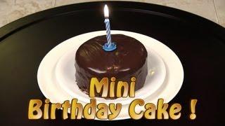 getlinkyoutube.com-How To Make A Mini Chocolate Birthday Cake