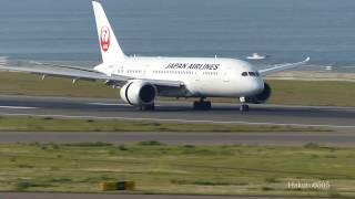 getlinkyoutube.com-JAL Boeing 787-8 Dreamliner JA835J Landing at Nagoya