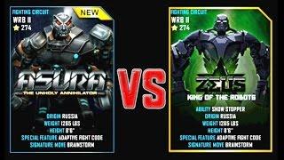 getlinkyoutube.com-REAL STEEL WRB Final ASURA VS Zeus New Robots CHRISTMAS UPDATE
