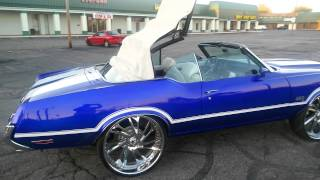 "getlinkyoutube.com-*WHEW!!* Kandy Cobalt Blue Cutlass 442 vert on 26"" Asanti DA179's!"