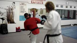 Karate, Tae Kwon Do sparring, fighting