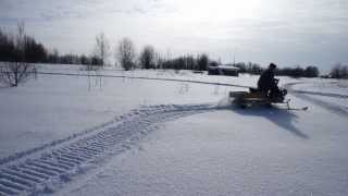 getlinkyoutube.com-Самодельный снегоход на гусенице.