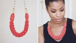DIY: Straight Knot Necklace.