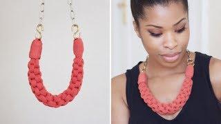 getlinkyoutube.com-DIY: Straight Knot Necklace.