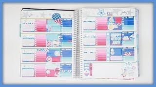 getlinkyoutube.com-Plan With Me // 4th Of July! (Erin Condren Horizontal)