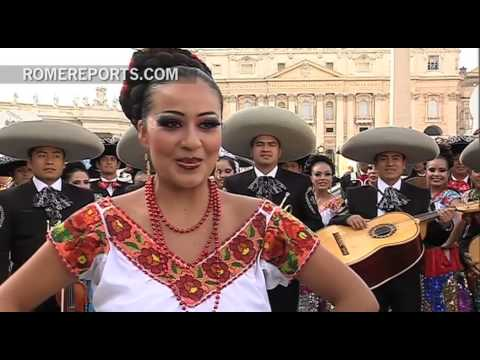 Mariachi  folkloric group celebrates 25 anniversary at the Vatican