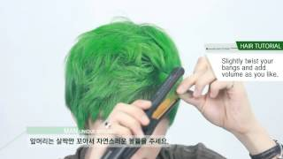 getlinkyoutube.com-[English subtitles][Korean hair] Unique Hair Styling for Men