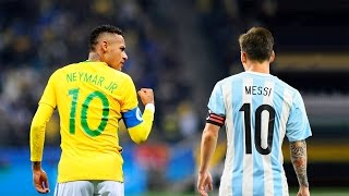 getlinkyoutube.com-Neymar Jr vs Lionel Messi ● Brazil & Argentina Heroes