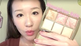 getlinkyoutube.com-Amily Zhou | Hourglass Edit Palette How to Use六色高光修容盘使用方法
