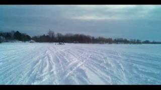 getlinkyoutube.com-Arctic Cat XF 1100 Turbo vs. a Ski Doo 800 MXZ X E-Tec Snowmobile DRAG RACE