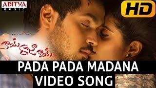 Pada Pada Madana Full Video Song    Kai Raja Kai Video Songs    Ram Khanna, Maanas, Shravya