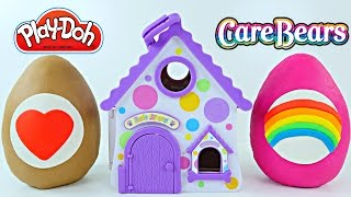 getlinkyoutube.com-Play-Doh Soft Spots Surprise Eggs Portable Puppy House Care Bears Blind Bags Huevos Sorpresa