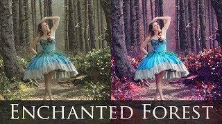 getlinkyoutube.com-Adobe Photoshop Tutorials CS6 How to Magical Forest vibrant colors contrast fairytale retouching