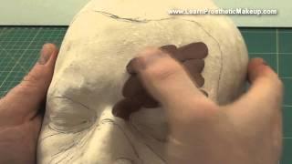 getlinkyoutube.com-Prosthetic Sculpting Tutorial Video Part 1: blocking out