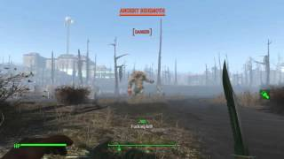 getlinkyoutube.com-Fallout 4 - COMBAT KNIFE ONE HIT KILL ANCIENT BEHEMOTH WITH  NO STEALTH