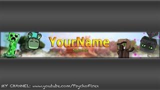 Free Banner Template PSD (Minecraft): Enjoy :P