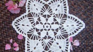 getlinkyoutube.com-Como hacer tapete o carpeta a crochet paso a paso DIY parte 1/2