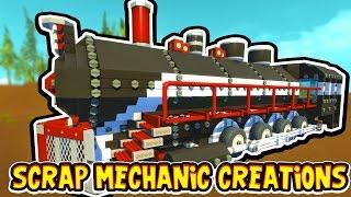 getlinkyoutube.com-Scrap Mechanic CREATIONS! - CRAZY WORKING TRAIN!! [#14] W/AshDubh   Gameplay  