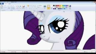 "getlinkyoutube.com-[MLP] ""Rarity"" Speedpaint- MS Paint (HD)"