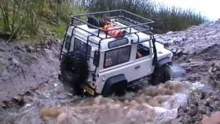 getlinkyoutube.com-RC Defender 90 2nd Test Heavy Rain Expedition