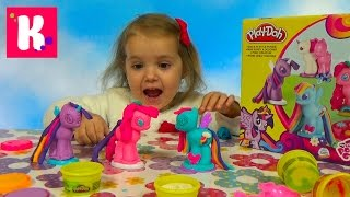 getlinkyoutube.com-Май литл Пони МЛП набор пластилина Плейдо распаковка MLP My Little Pony unboxing Play-Doh set