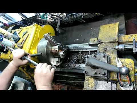 Ремонт радиатора токарным станком.