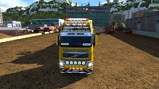 getlinkyoutube.com-Euro Truck Simulator 2 - Volvo FH16  8X4 and Oversize Load