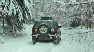 getlinkyoutube.com-SNOW OFFROAD NISSAN PATROL OPEL FRONTERA MYJAVA SLOVAKIA 01/2013