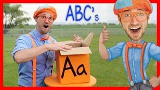getlinkyoutube.com-Learn The Alphabet With Blippi | ABC Letter Boxes