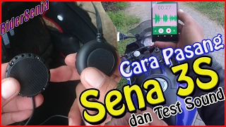 getlinkyoutube.com-#91 Cara Pasang Sena 3S di Helm dan Test Audio Sena 3S