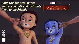 getlinkyoutube.com-Little Krishna steal butter, yogurt & milk and distribute in friends