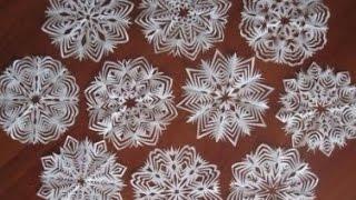 getlinkyoutube.com-Как вырезать снежинки Видео онлайн. Cut snowflakes online.