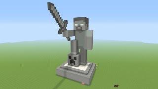 getlinkyoutube.com-Minecraft Tutorial: How To Make A STONE HEROBRINE Statue!!