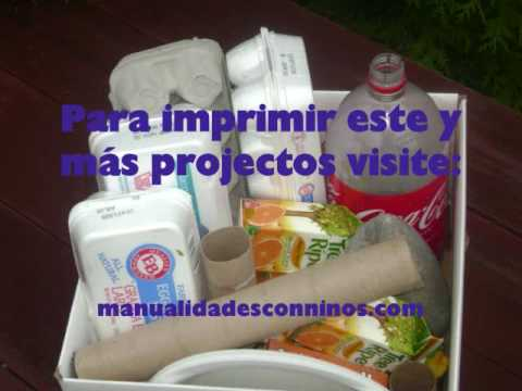 Reciclando materiales para manualidades