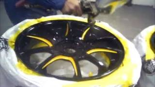 getlinkyoutube.com-How to Paint Rims - Stripe Color Change
