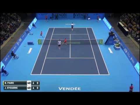 Benoit Paire wins two insane points against Jonathan Eysseric (Challenger Mouilleron-le-Captif 2016)