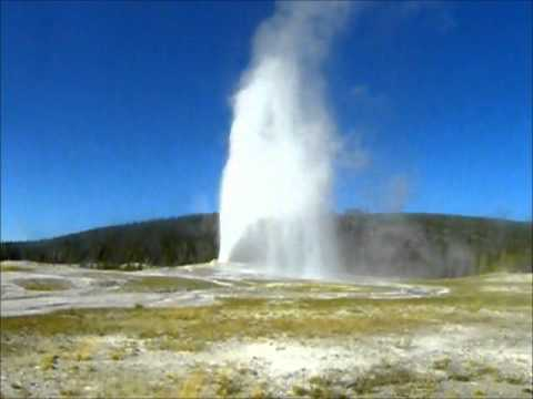 Old Faithful Erupting at Yellowstone National Park