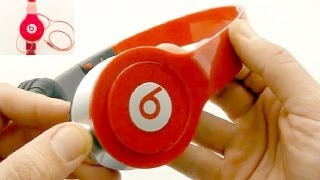 getlinkyoutube.com-Review Fake Monster Beats by Dr Dre Solo HD Red $11 - DealExtreme Unboxing #1