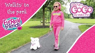getlinkyoutube.com-GoGo and I walk to the park: FurReal Friends Get Up & GoGo My Walkin' Pup