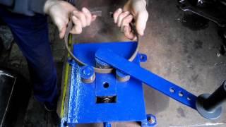 getlinkyoutube.com-Самодельный станок для гибки колец. Холодная ковка.